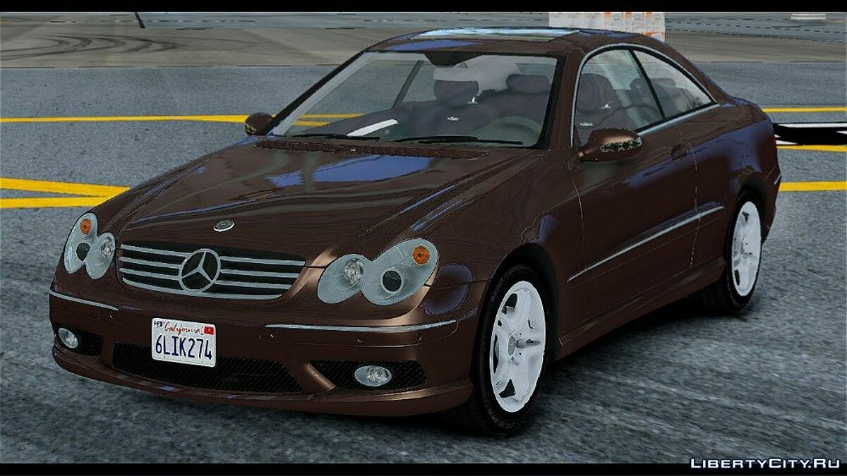 Mercedes-Benz CLK 55 AMG Stock для GTA 4 - скриншот #4