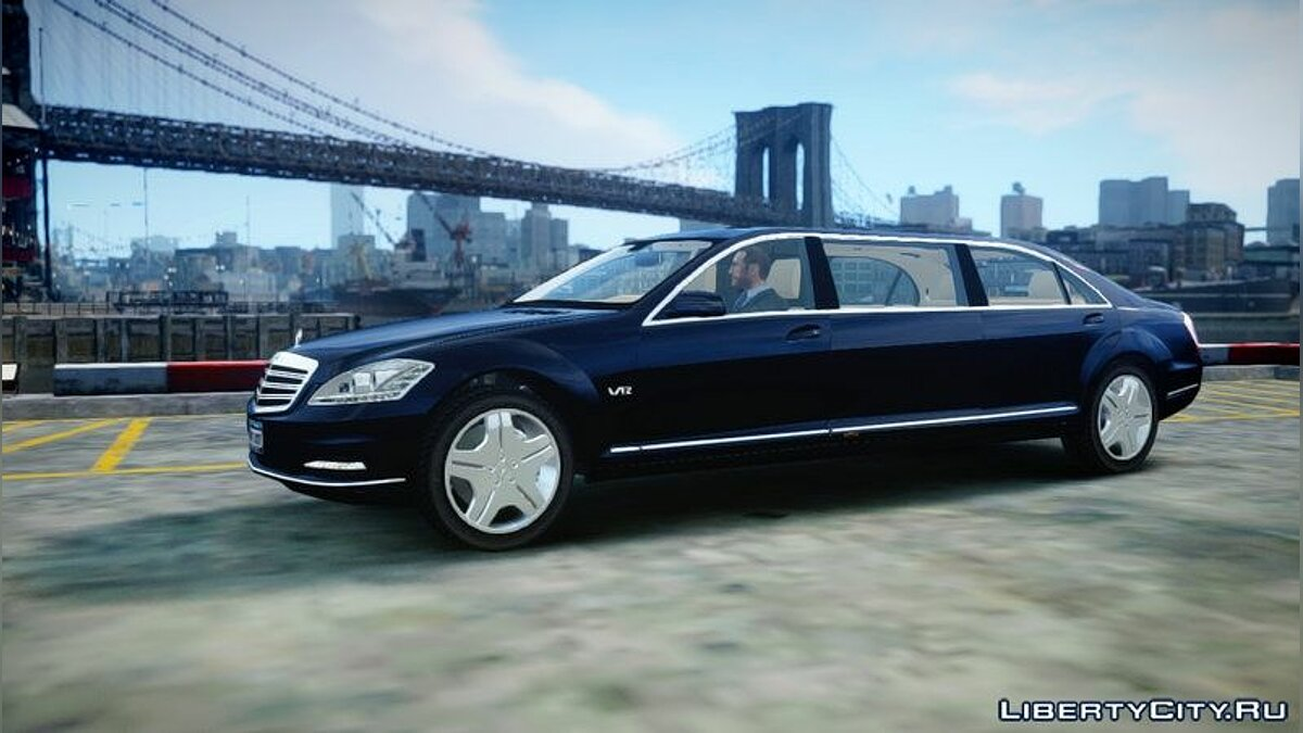 2011 Mercedes-Benz S600 Guard Pullman для GTA 4 - скриншот #5
