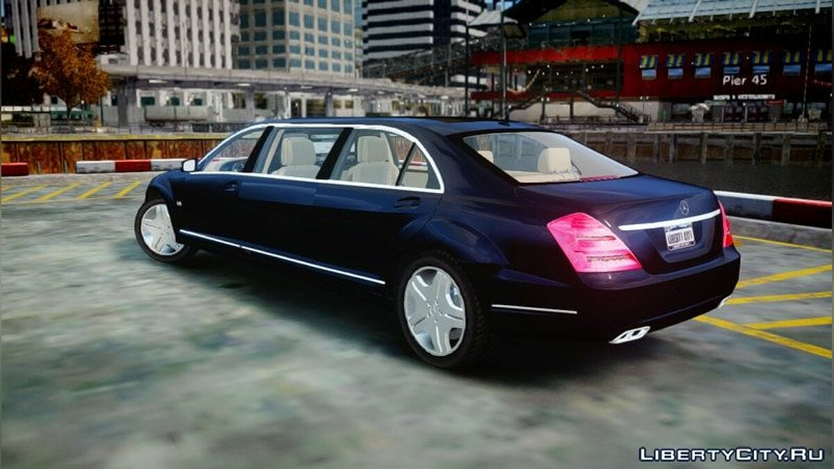 2011 Mercedes-Benz S600 Guard Pullman для GTA 4 - скриншот #4