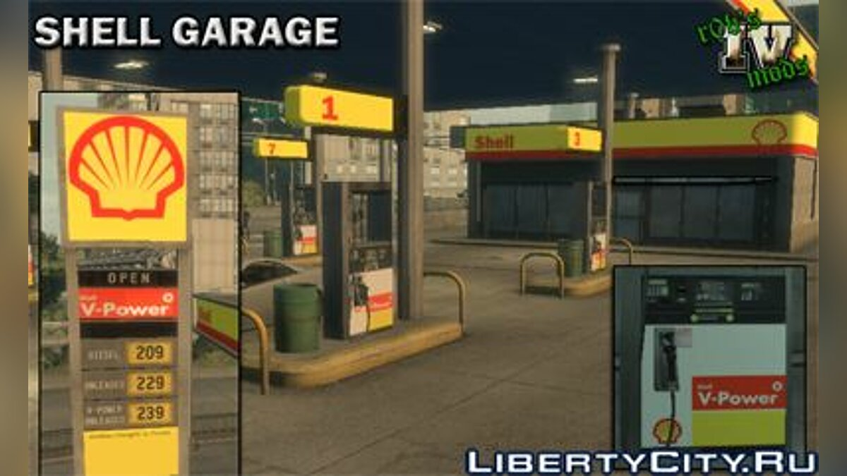 Shell Petrol Station для GTA 4