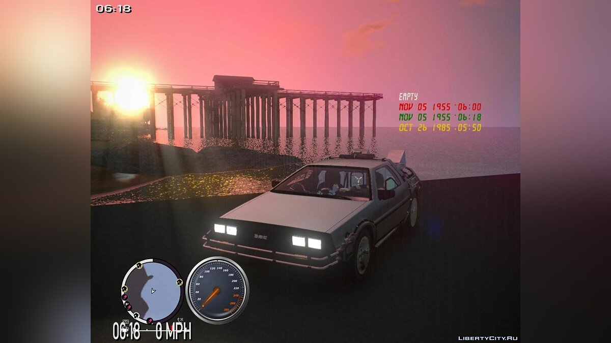 Back to the future + Hill Valley для GTA 4