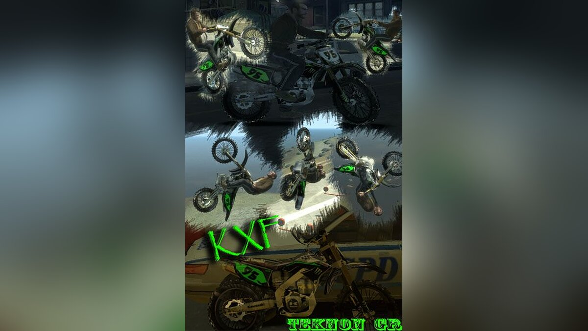 Kawasaki KXF Monster для GTA 4