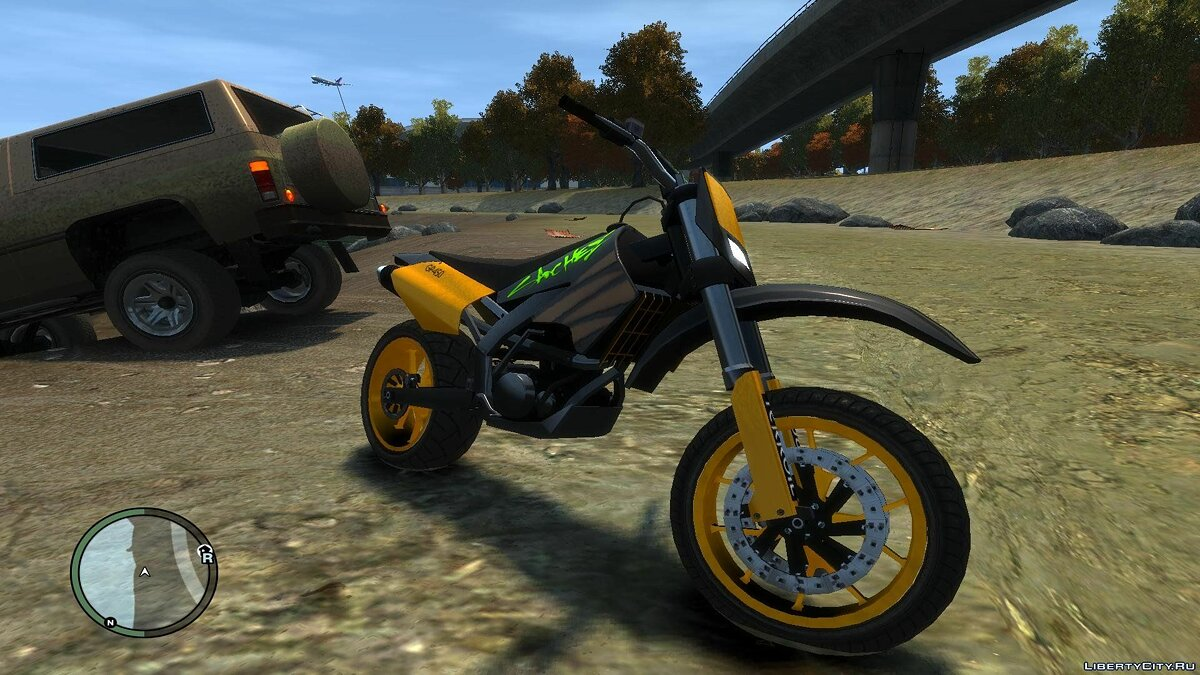 Мотоцикл Sanchez Supermoto v1 для GTA 4