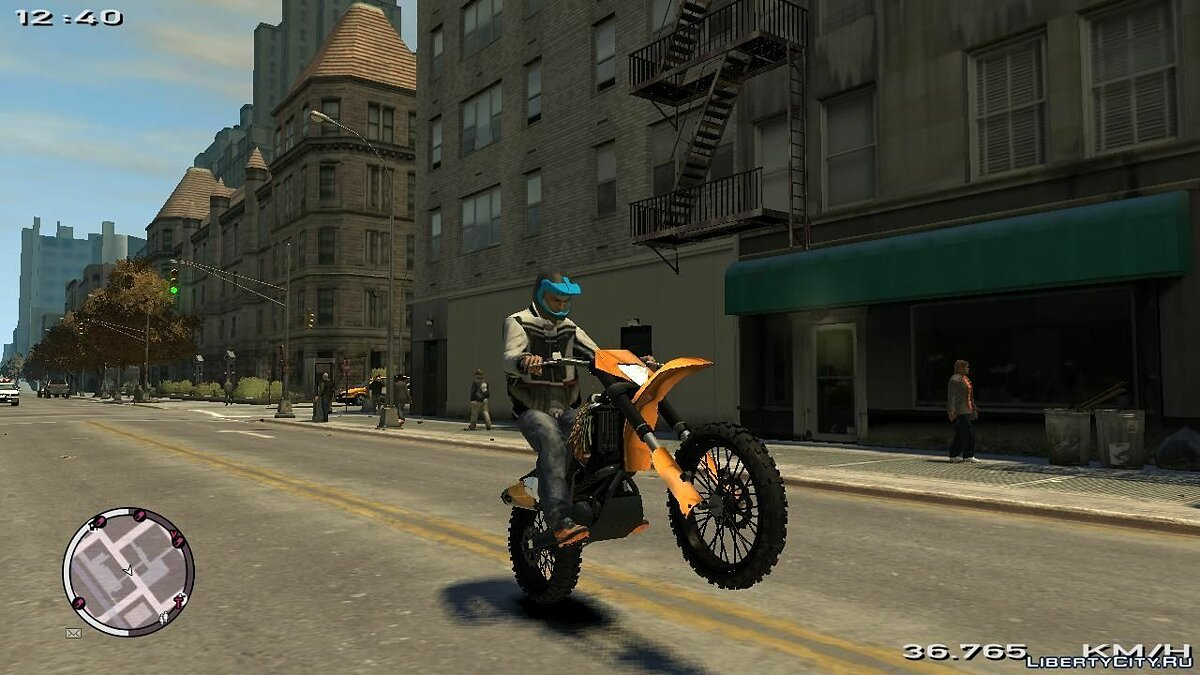 KTM EXC 450 Off-Road Monster-Energy для GTA 4