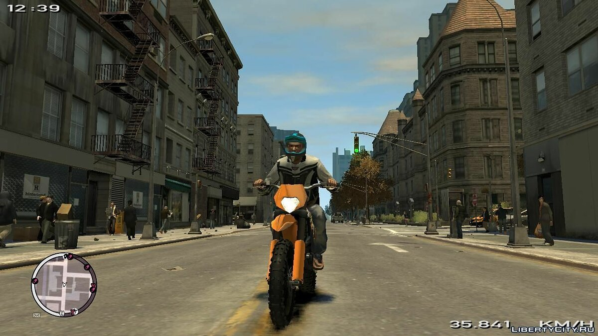 KTM EXC 450 Off-Road Monster-Energy для GTA 4 - скриншот #2