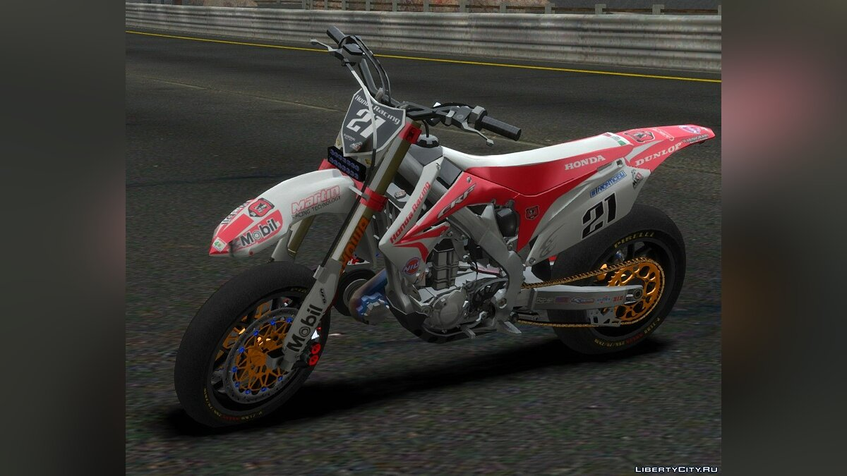 Honda CRF 450 Turbo Motard для GTA 4