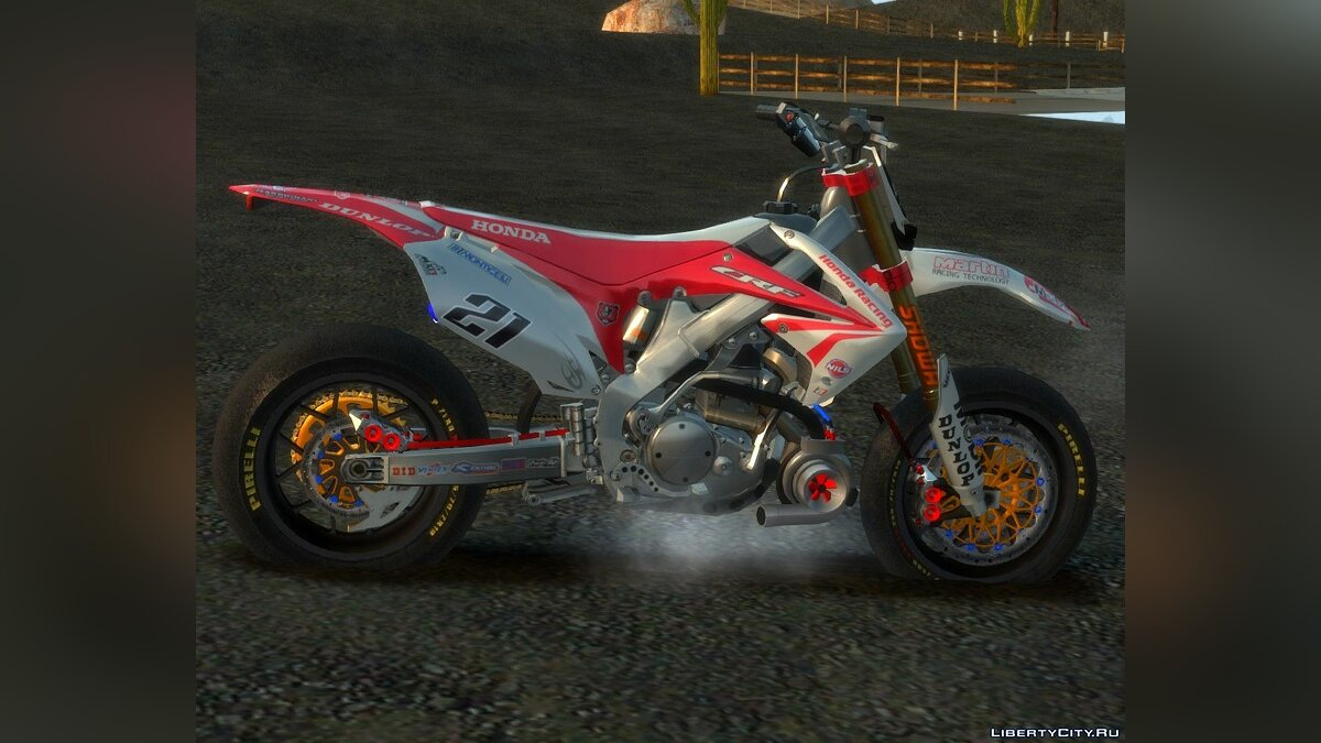 Honda CRF 450 Turbo Motard для GTA 4 - скриншот #3