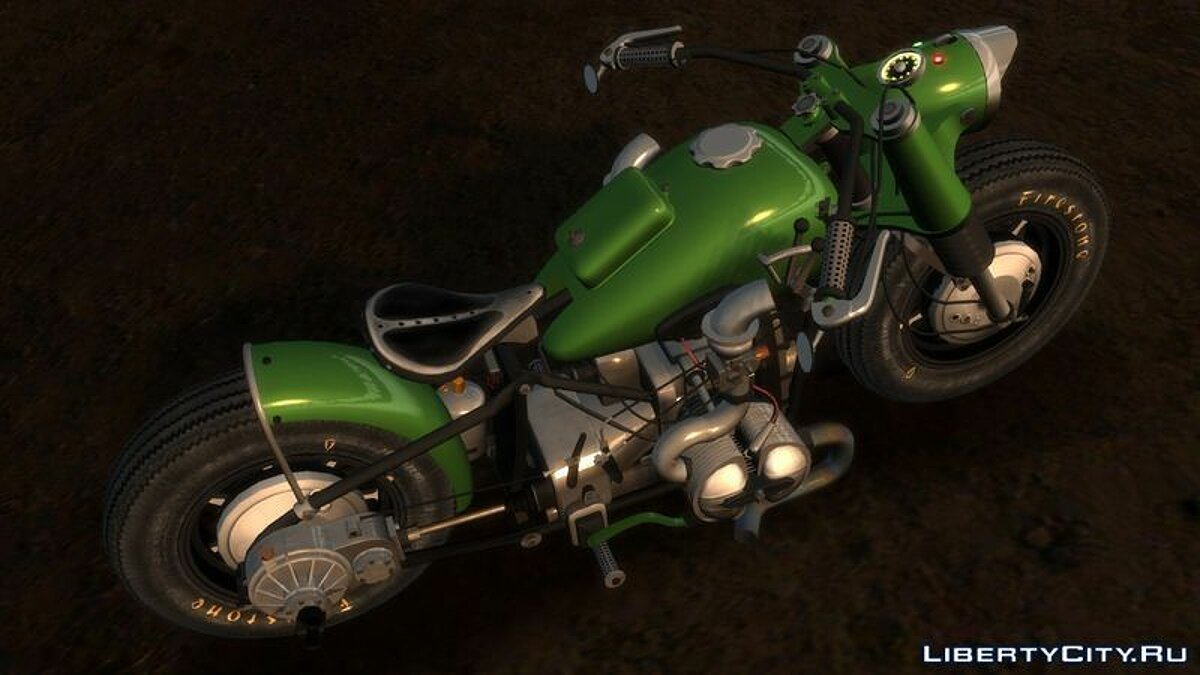 Мотоцикл BMW R-75 Bobber v2.0 (final) для GTA 4