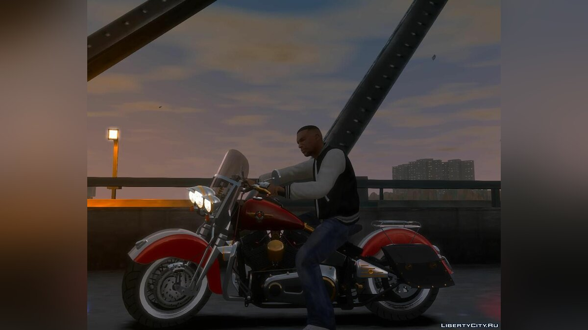 Harley-Davidson Fat Boy Lo (Vintage final) для GTA 4 - Картинка #1