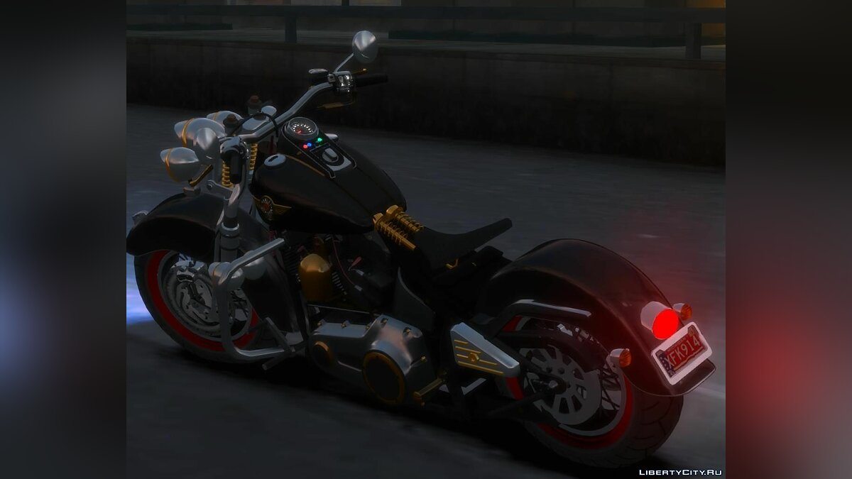 Harley-Davidson Fat Boy Lo (Vintage final) для GTA 4 - Картинка #2