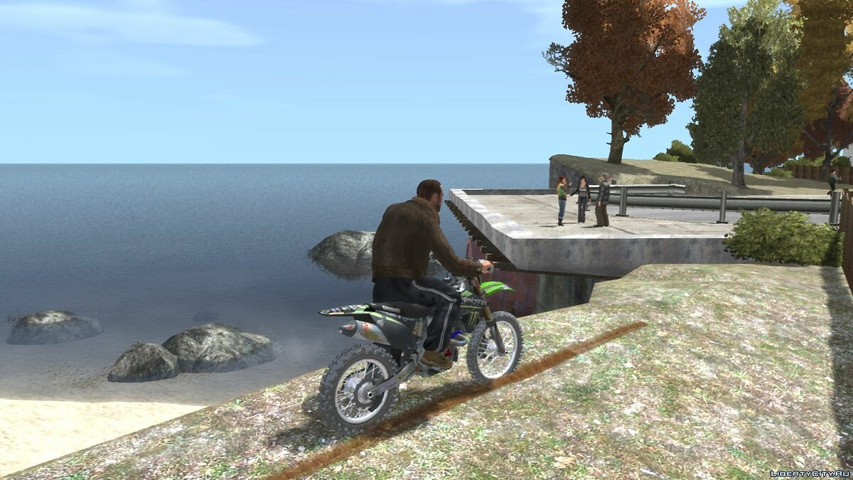 Мотоцикл Kawasaki KX250F Monster Energy для GTA 4