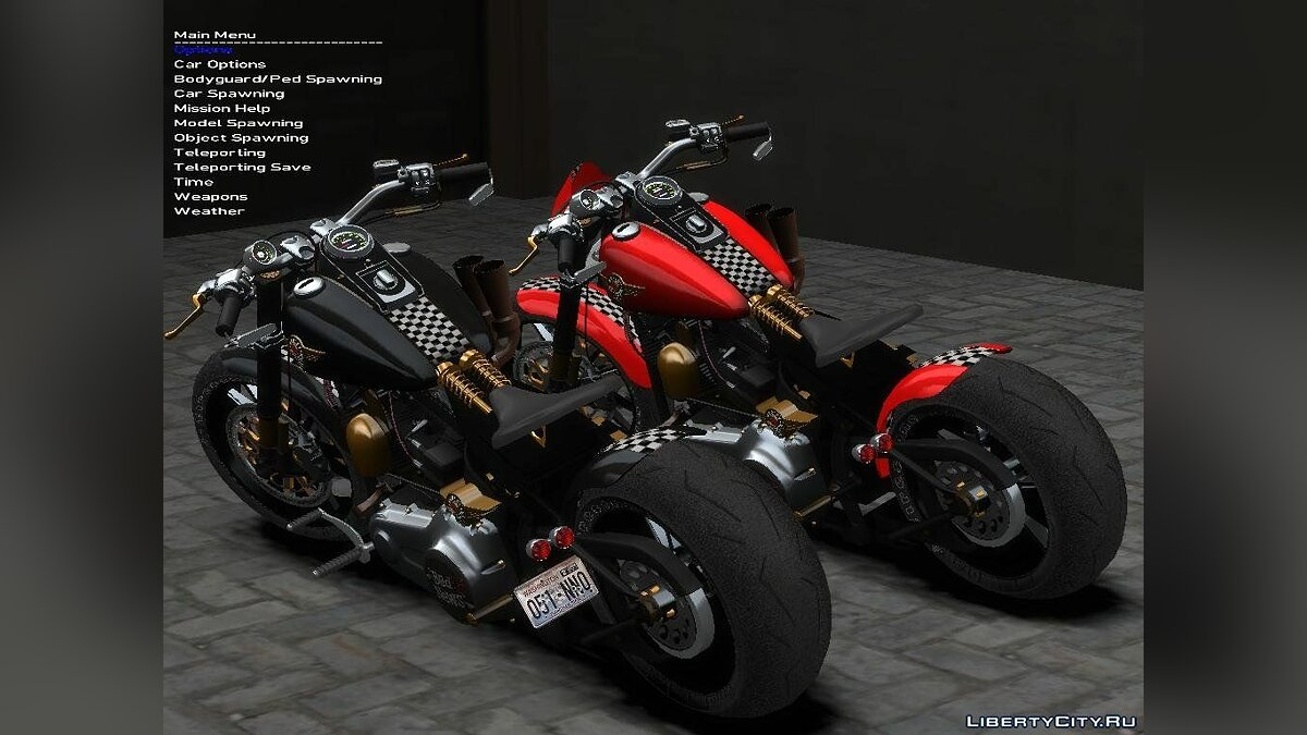 Мотоцикл Harley Davidson Fat Boy Lo (Racing Bobber) для GTA 4
