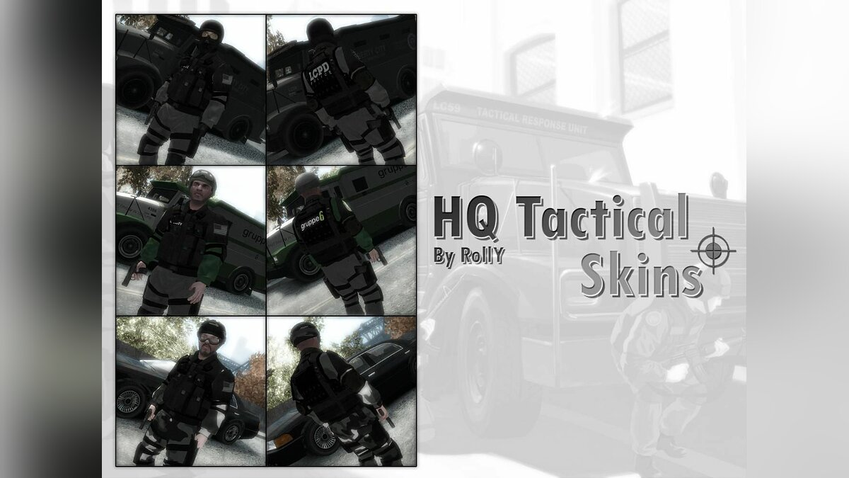 HQ Tactical Skins для GTA 4
