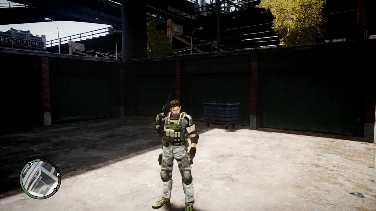 Resident Evil 5 Chris Redfield Full Armor для GTA 4