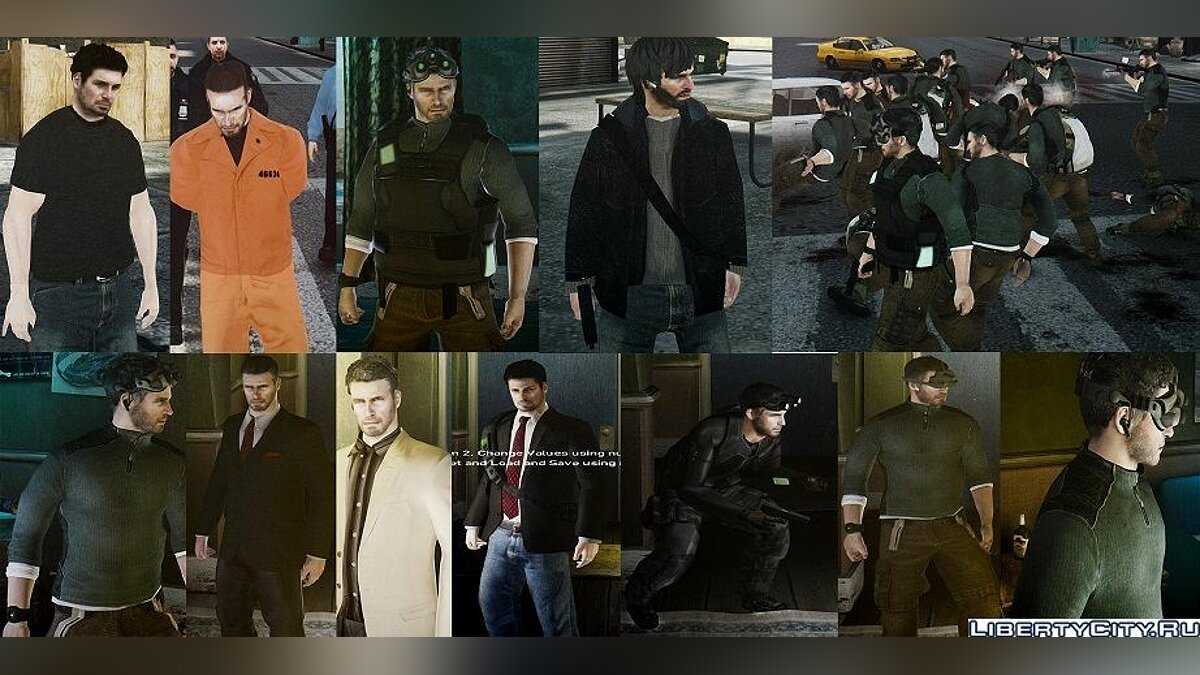 Sam fisher add-on pack для GTA 4