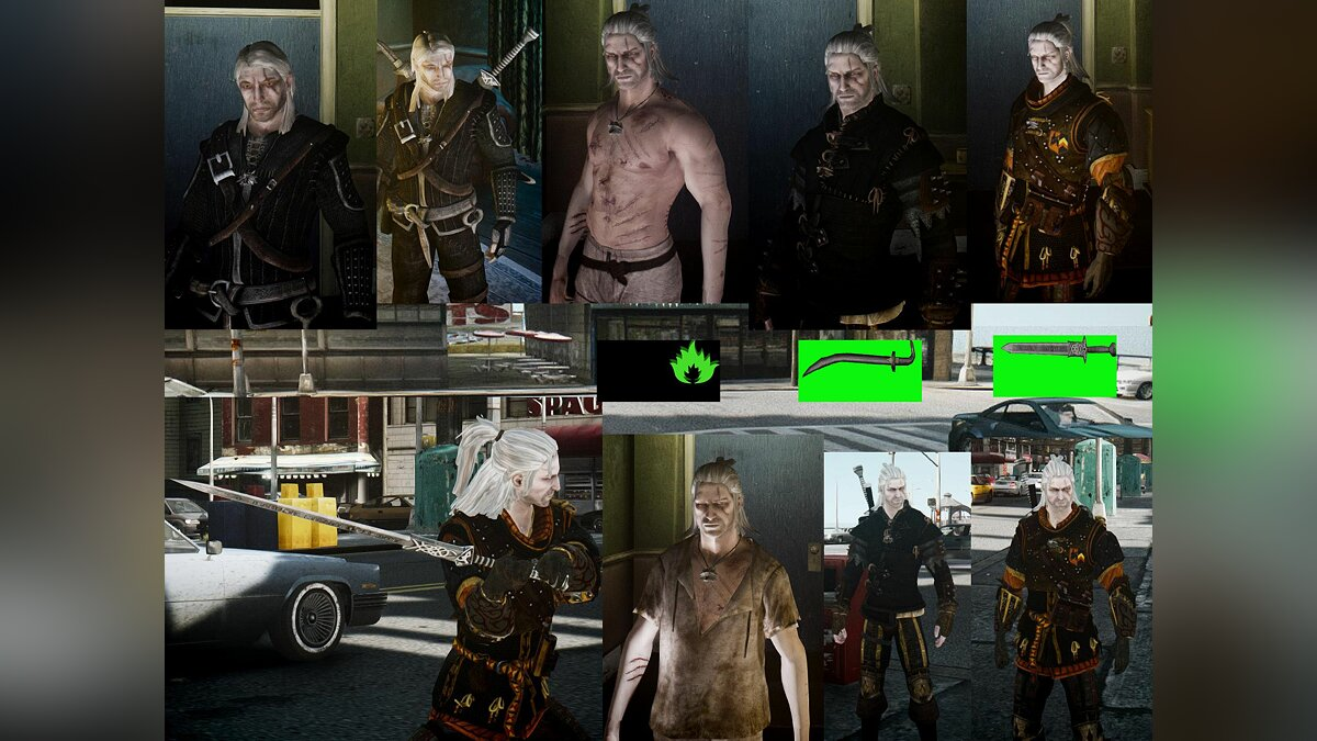 Geralt Witcher Pack для GTA 4