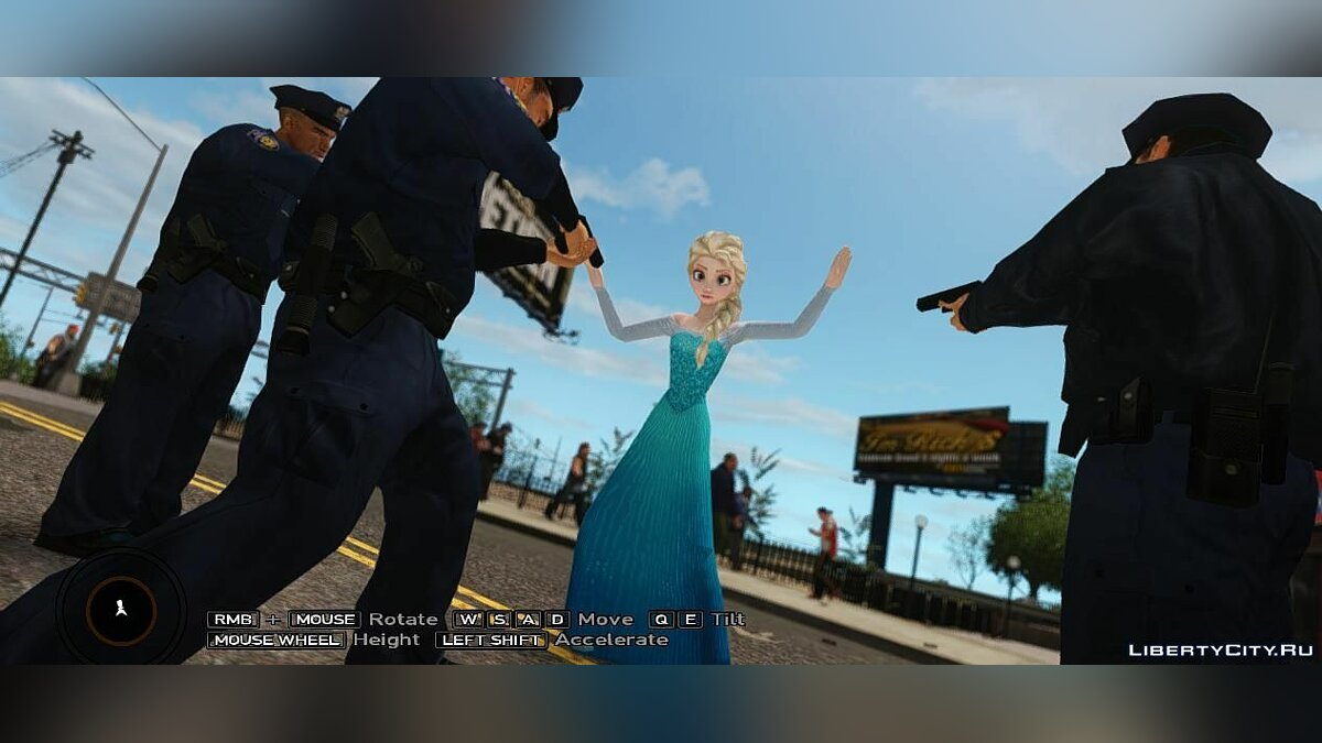 Elsa the Snow Queen для GTA 4