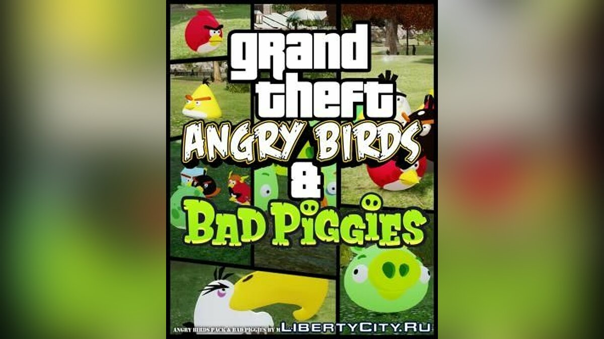 Angry Birds Pack & Bad Piggies (Ped) для GTA 4