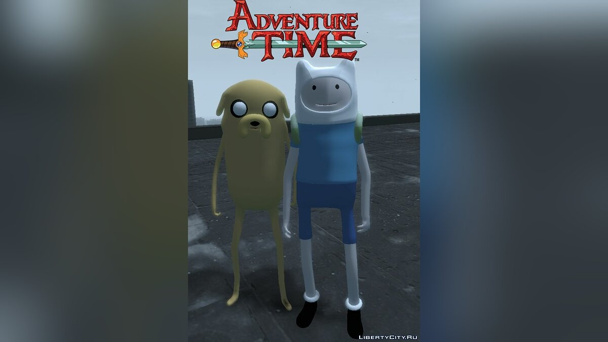 "Finn and Jake from ""Adventure Time"" для GTA 4"