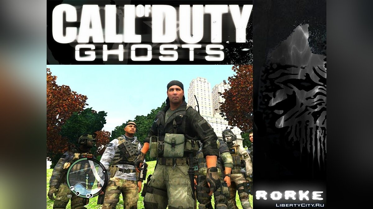 Новый персонаж Rorke (Ped) from Call of Duty: Ghosts для GTA 4