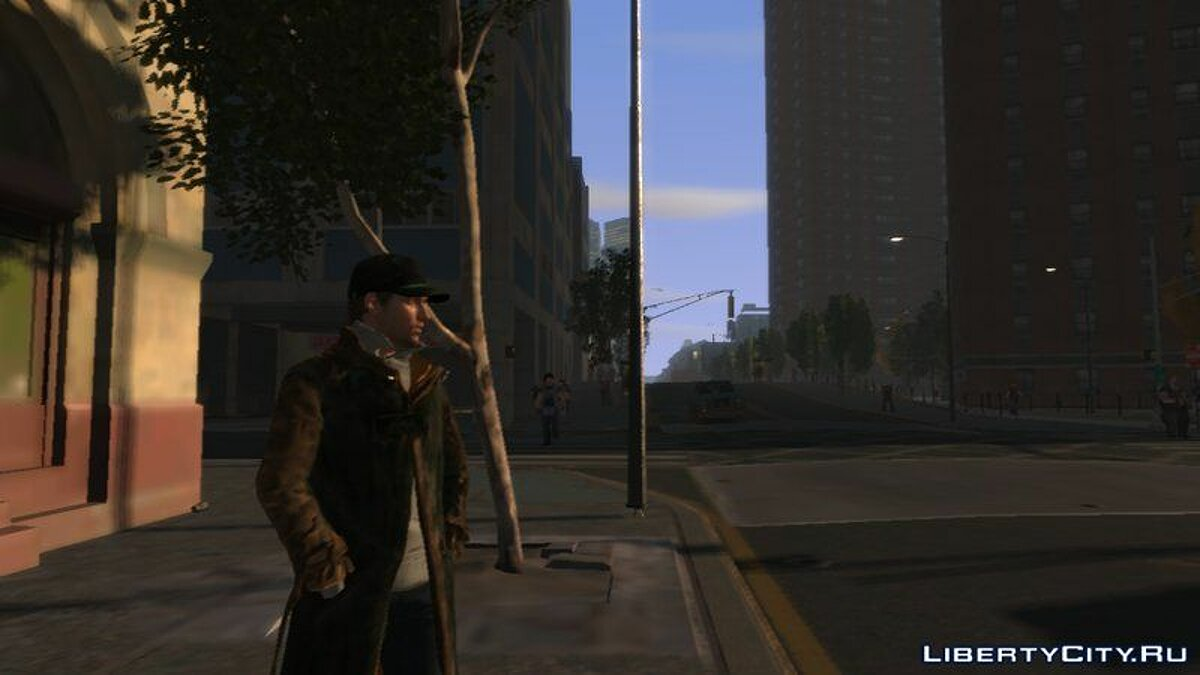 [PED] Aiden Pearce from WATCH_DOGS UPDATED для GTA 4 - скриншот #2