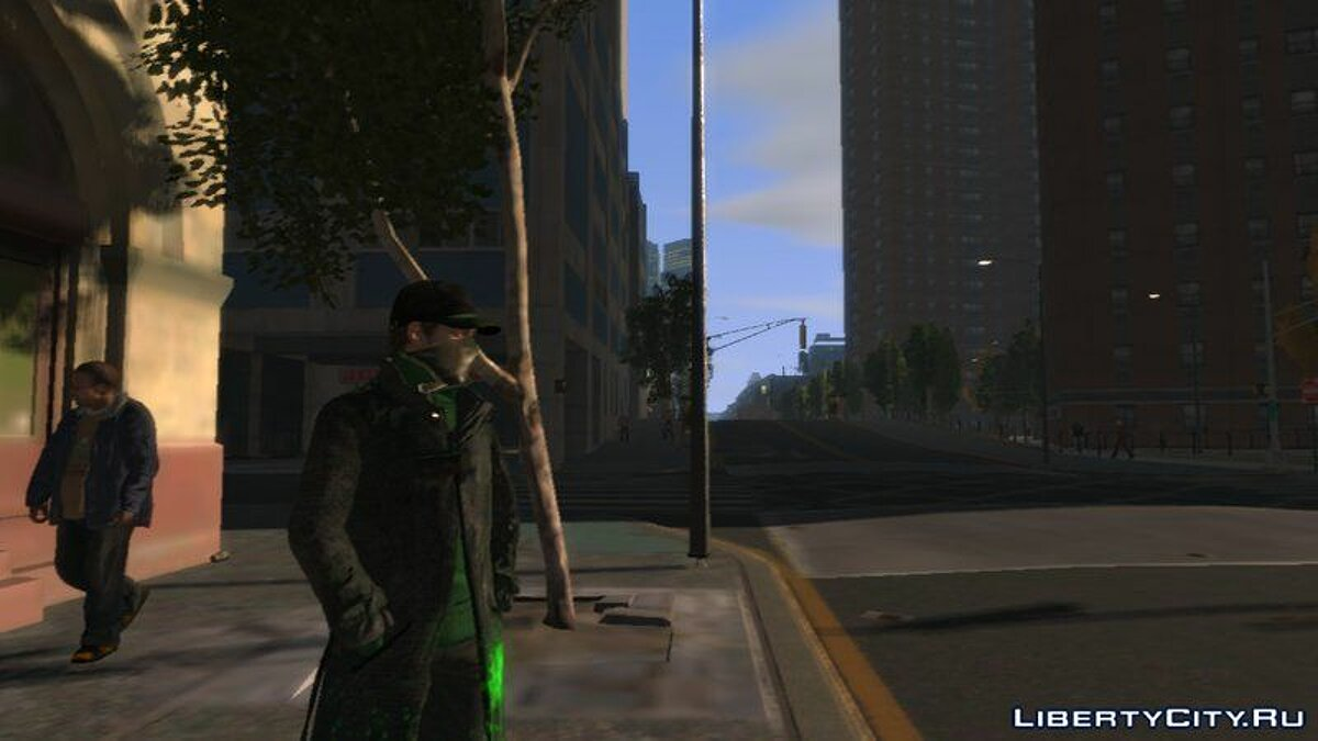 [PED] Aiden Pearce from WATCH_DOGS UPDATED для GTA 4 - скриншот #3