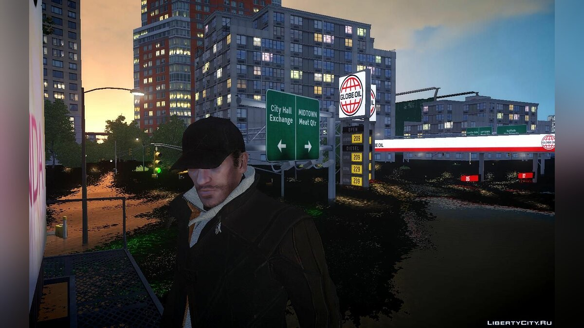 Watch Dogs Niko для GTA 4