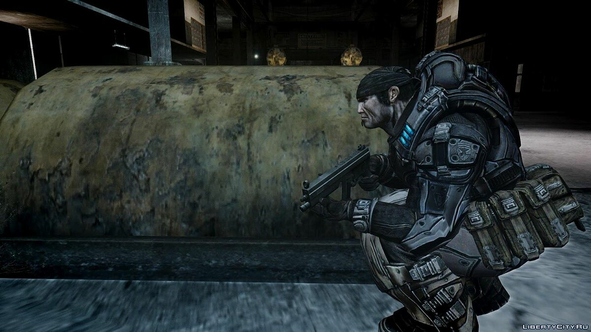 Gears Of War 2 Marcus Fenix для GTA 4