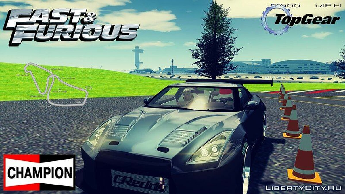 ��овый объект Top Gear Track Fix + Objects для GTA 4