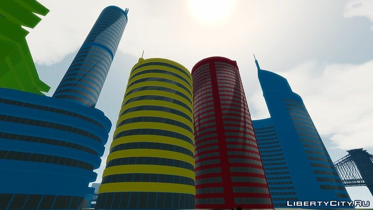 ��овый объект Google SkyScrapers Buildings для GTA 4
