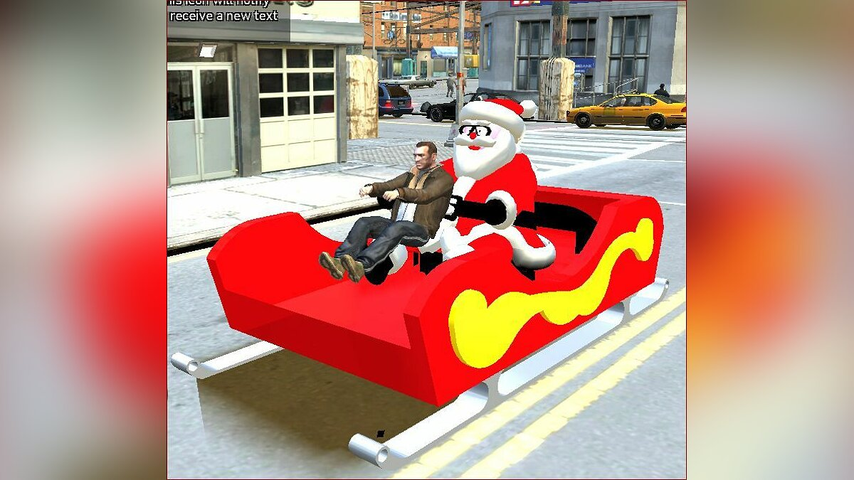 Santa Claus's Sled with Santa для GTA 4