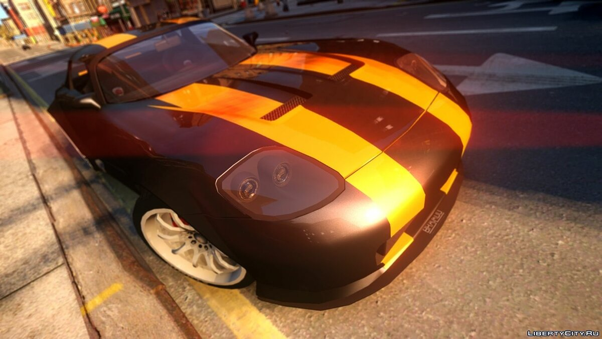 ��ашина Banshee Double Stripe для GTA 4