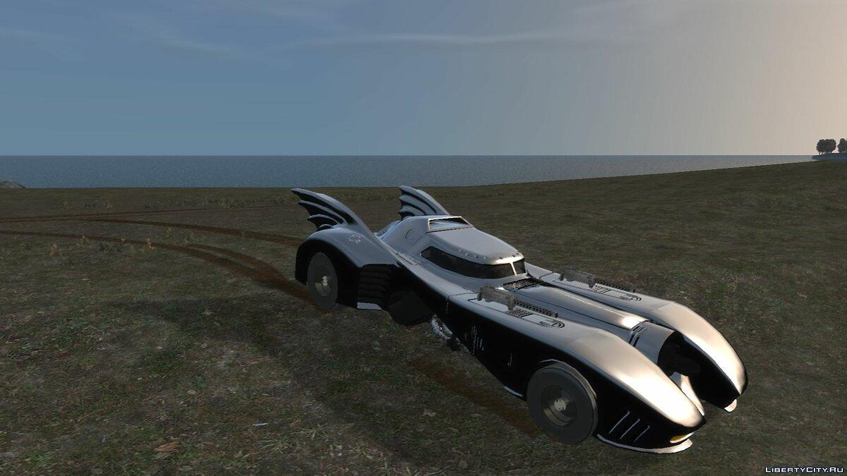 Машина 1992 Batmobile Movie Car Mod для GTA 4