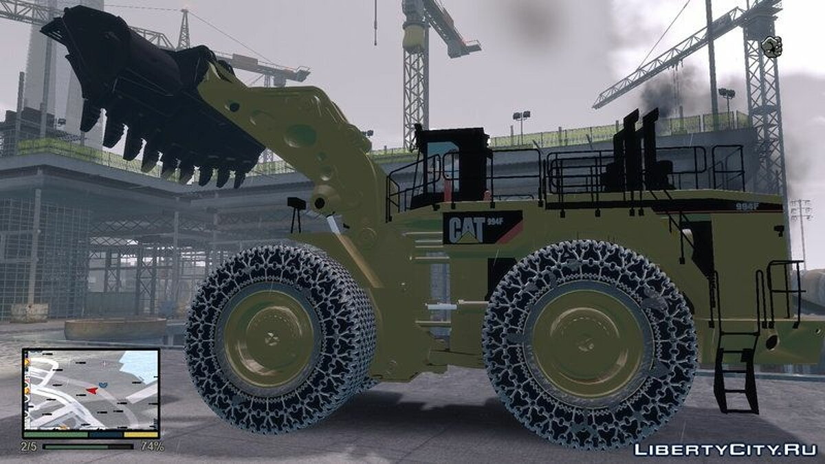 CAT 994F Worlds Big Chains Wheel Loader 3.0 для GTA 4