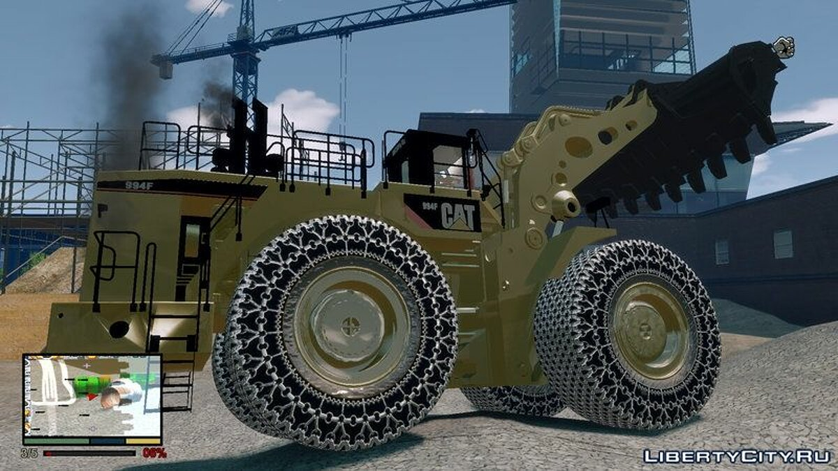 CAT 994F Worlds Big Chains Wheel Loader 3.0 для GTA 4 - скриншот #4