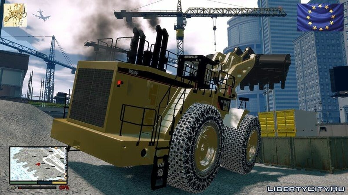 CAT 994F Worlds Big Chains Wheel Loader 3.0 для GTA 4 - скриншот #2