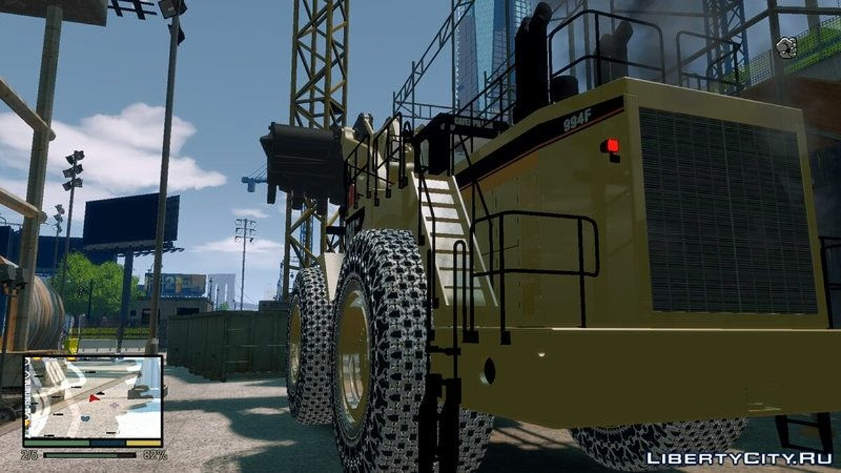 CAT 994F Worlds Big Chains Wheel Loader 3.0 для GTA 4 - скриншот #3