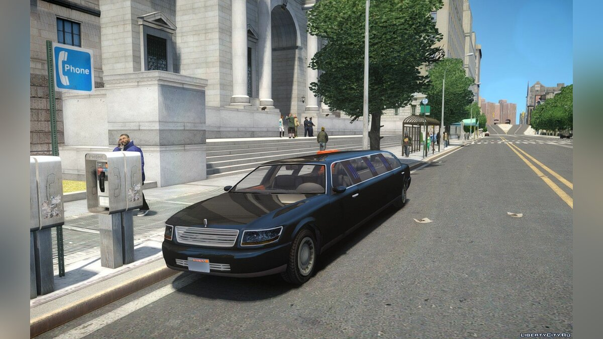 GTA V Albany Washington Stretch-Limo для GTA 4