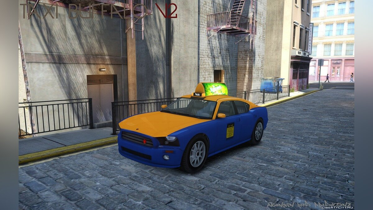 Машина Taxi Buffalo V2 (Downtown Cab Co. Update) для GTA 4