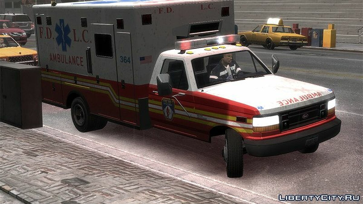 Машина Vapid Ambulance Retro для GTA 4
