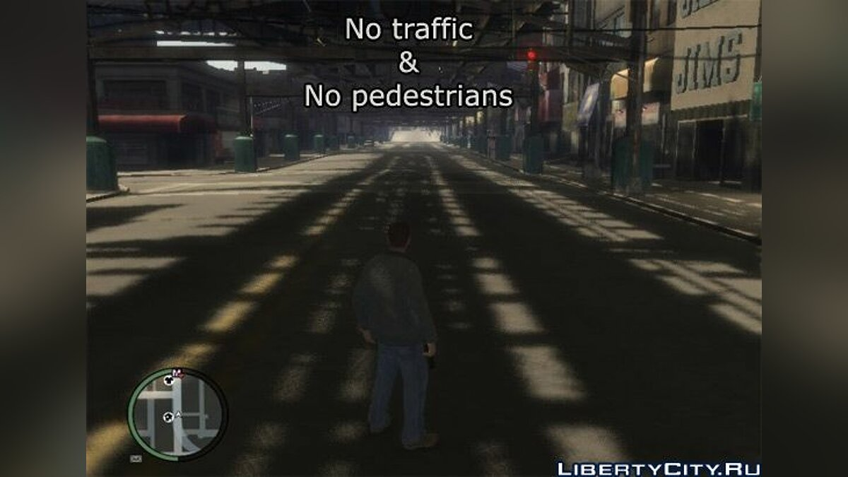 No traffic and no pedestrians для GTA 4