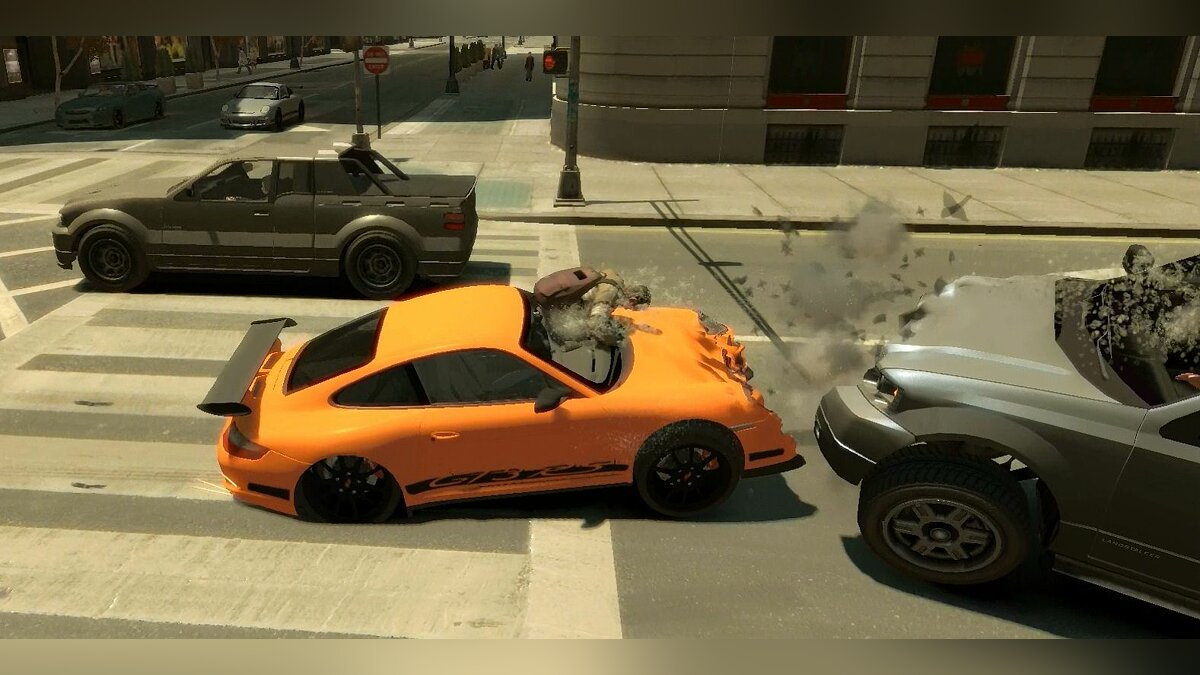 Crash mod amplify and Porsche GT3 RS more Real для GTA 4
