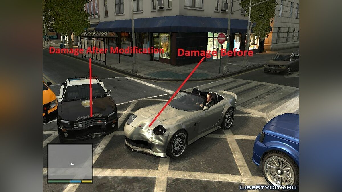 GTA V Vehicle Damage for GTA IV для GTA 4