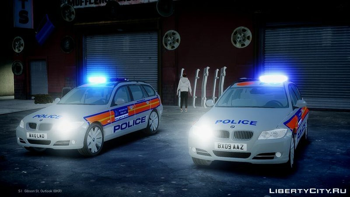 Met Police BMW 3 Series Touring E91 Area Car Pack для GTA 4