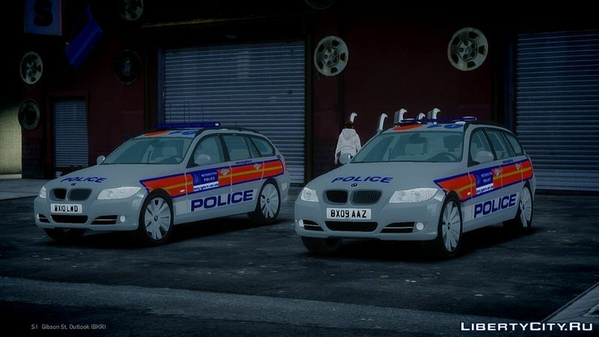 Met Police BMW 3 Series Touring E91 Area Car Pack для GTA 4 - скриншот #3