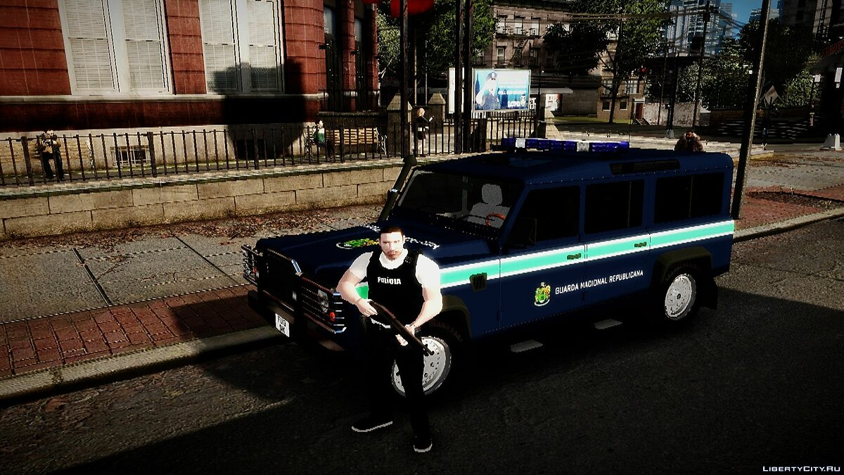 Policia PSP & GNR Land Rover Defender + Sounds для GTA 4