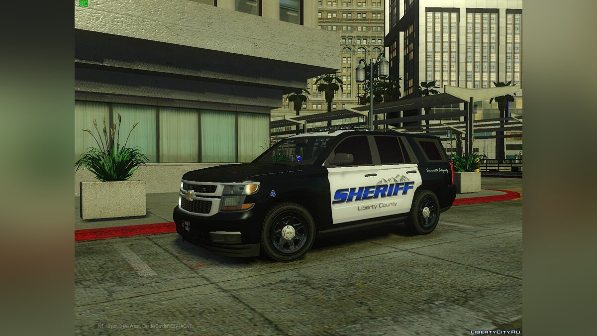 2015 Marked Liberty City Police Tahoe PPV TAHO 1.0M для GTA 4