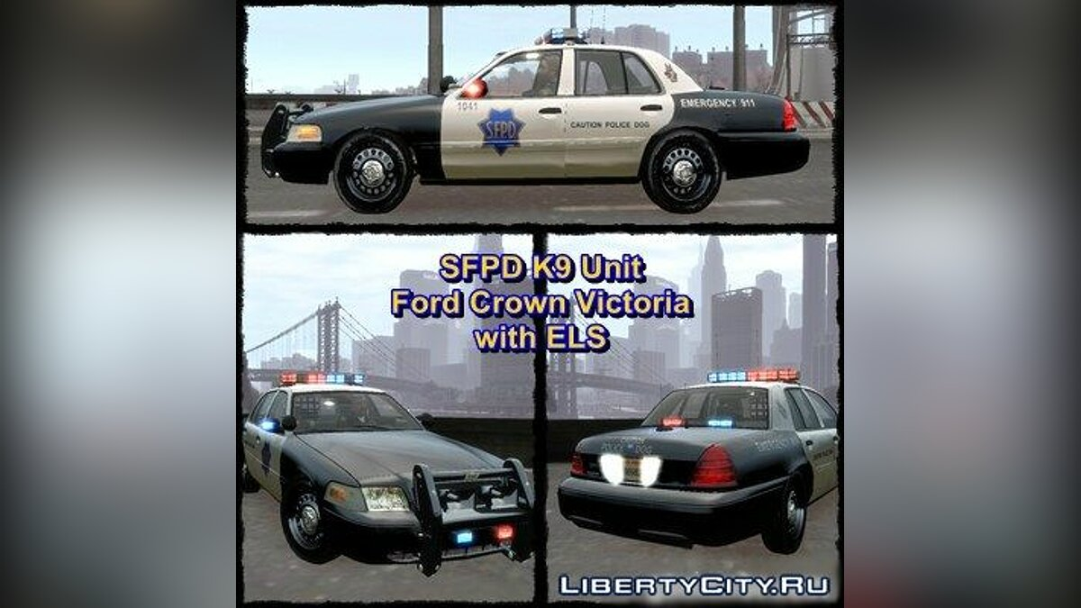 SFPD K9 Unit Ford Crown Victoria для GTA 4