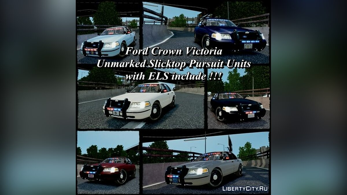Ford Crown Victoria Unmarked Units для GTA 4 - Картинка #1