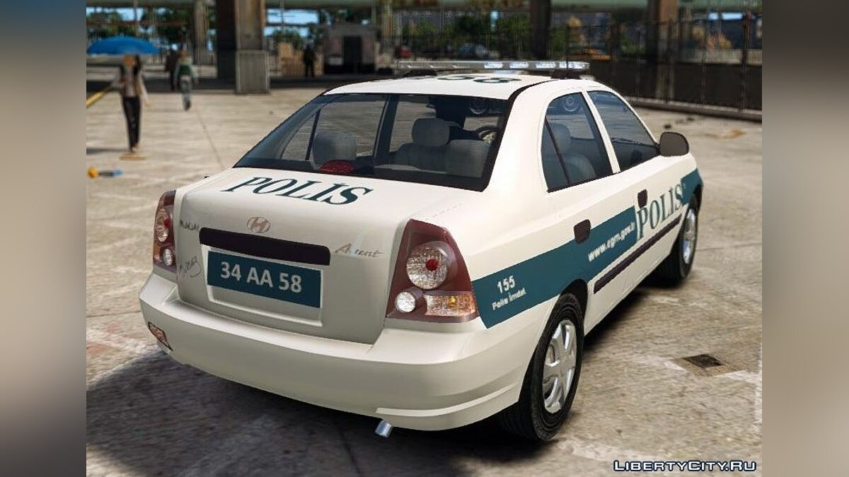 Hyundai Accent Admire Turkish Police ELS для GTA 4 - Картинка #3